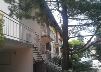 Izdelava fasad vrstne hiše slikopleskarstvo Završnik